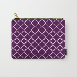 Dark Purple Moroccan Pattern Carry-All Pouch