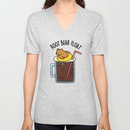 Root Bear Floar Cute Root Beer Pun Unisex V-Neck