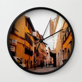 Italy In A View: Postcard From Lucca Wall Clock