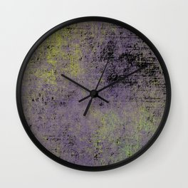 Darkened Sky - Textured, abstract painting Wall Clock