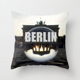 Brandenburg Gate sunset, Berlin Throw Pillow