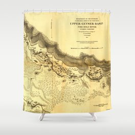 Upper Geyser Basin Shower Curtain