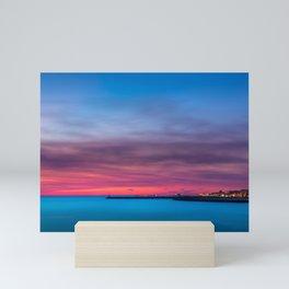Red sunset over Porto Mini Art Print