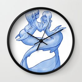 Blue Mermaid Wall Clock