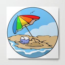 Summer Umbrella Metal Print