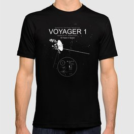 Voyager 1-Humanity's Farthest Spacecraft-40 Years in Space T-shirt