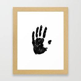 Black handprint Framed Art Print