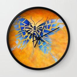 Tropenillo V1 - the blue butterfly Wall Clock