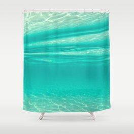 Tropical Water Shower Curtain