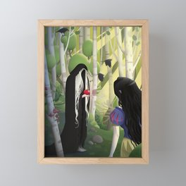 Snow White and the Witch Framed Mini Art Print