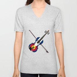 Colorado Fiddle Unisex V-Neck