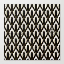 Art Deco Marble Pattern Canvas Print