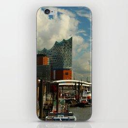 Elbharmonie With Harbor Scene iPhone Skin