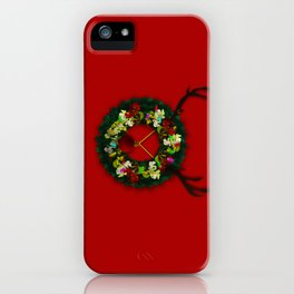 Wreath Reindeer iPhone Case