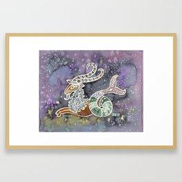 Zodiac Collection: Capricorn Framed Art Print