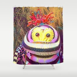 Psychedelic Monster Shower Curtain