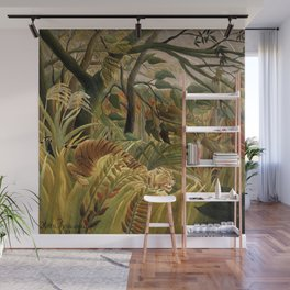 Tiger in a Tropical Storm - Henri Rousseau Wall Mural
