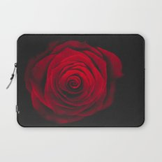 Red rose on black background vintage effect Laptop Sleeve
