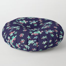 Some Things in Life are Puzzling Floor Pillow