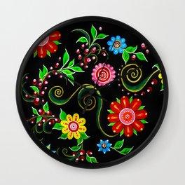 Ukrainian Flowers Wall Clock