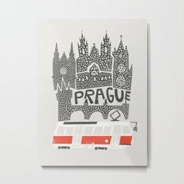 Prague Cityscape Metal Print