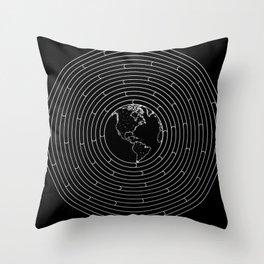 I Dream To Explore The World (Black) Throw Pillow