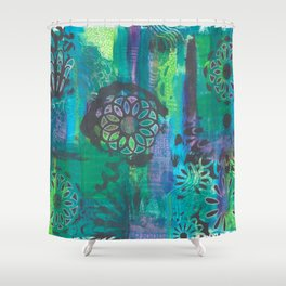 Kalediscopic Peacock Shower Curtain