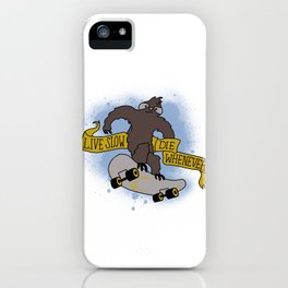 Live slow iPhone Case