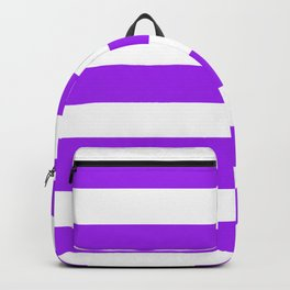 Veronica -  solid color - white stripes pattern Backpack