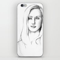karen hallion iPhone & iPod Skins featuring Karen Page by Bitterness
