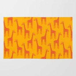Giraffes-Orange Rug