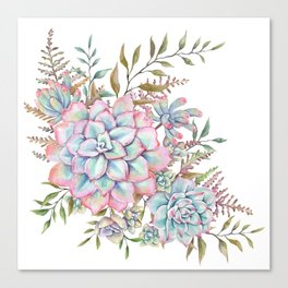 succulent watercolor 14 Canvas Print