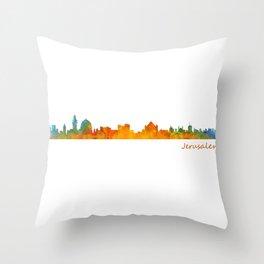 Jerusalem City Skyline Hq v1 Throw Pillow
