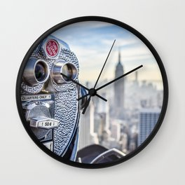 New York City Skyline and Views Wall Clock