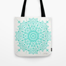 Moroccan Mandala – Turquoise Palette Tote Bag