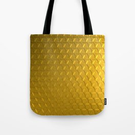 Golden honeycomb pattern Tote Bag