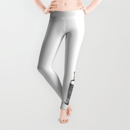Vintage Heroin Medicine Bottle Leggings
