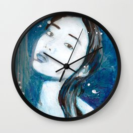 Blue Swoon Wall Clock