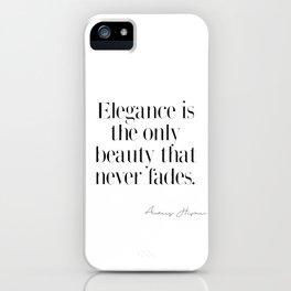 Elegance by Audrey Hepburn iPhone Case