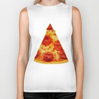 pizza Biker Tanks featuring PIZZA by @thecultureofme