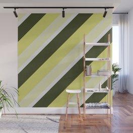 Cactus Garden Stripes 3D Wall Mural