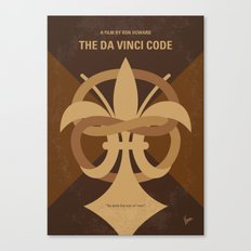 No548 My Da Vinci Code minimal movie poster Canvas Print