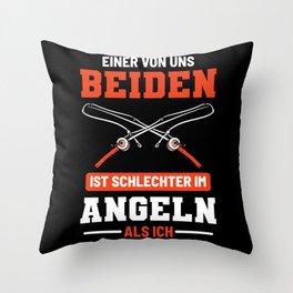 Funny Fisherman Quote Angling Fishing Dad Angler Throw Pillow