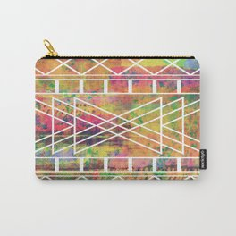 Aztec Andes Tribal, Geometric Shapes Pattern, Itaya Carry-All Pouch