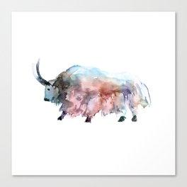 Wild yak 2 / Abstract animal portrait. Canvas Print