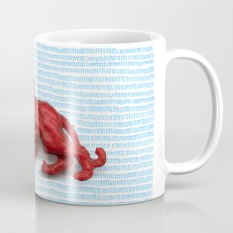 Red panther on blue grass Coffee Mug