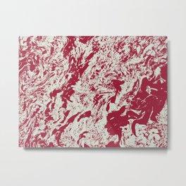 R. Marblanite (B.W. Alternate) Metal Print