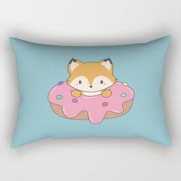 Kawaii fox and donut Rectangular Pillow