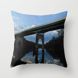 Historic Main St Bridge Throw Pillow