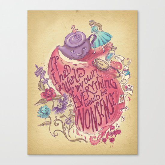 Lewis Carroll Canvas Print